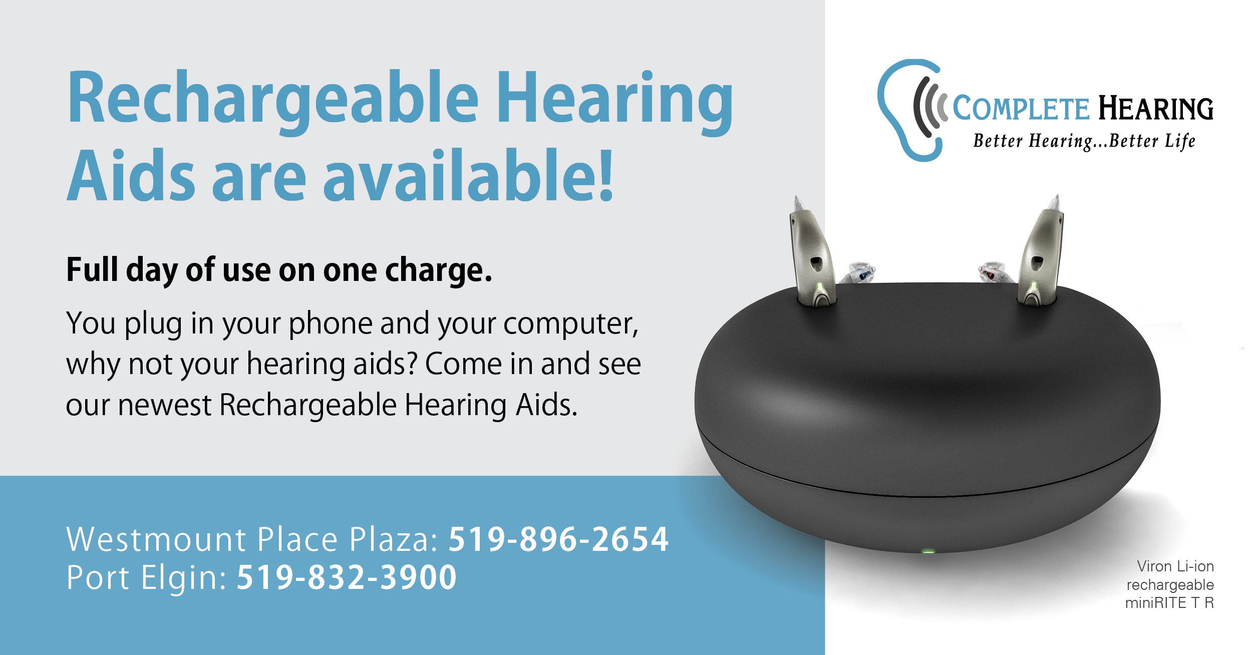 Recharageable Hearing Aids